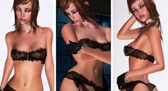 3D lesbians and 3D girlfriends in lesbian 3D XXX game