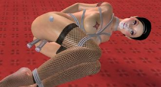 BDSM game with 3D bondage sex and fetish 3D porn