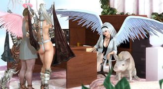 Elf XXX story with sexy angels and naughty goddesses