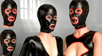 Online XXX game with latex sex and bdsm submission