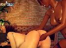 Interracial sex with 3d real lesbians touching their pink pussies