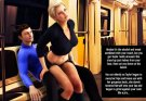 Nasty blonde whore seduces in metro
