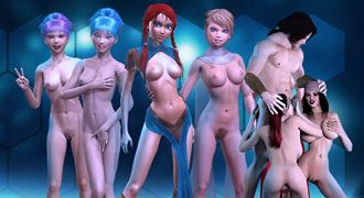 Cartoon XXX porn games with elf princess fuck