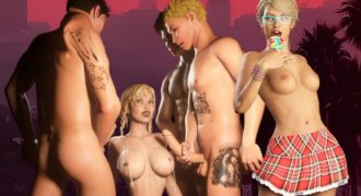 Nude gangster girls in XXX cartoon download