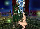 Green alien human trapped a beautiful hentai princess