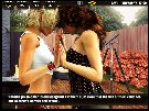 Sexy lesbians play xxx games and flirt outdoors