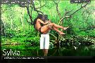 Brave boy rescue a bikini lady in the jungle